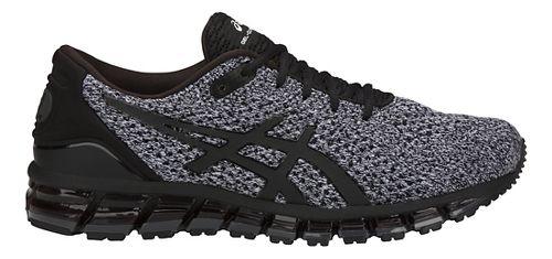 Mens ASICS GEL-Quantum 360 Knit Running Shoe - Black/White 11.5
