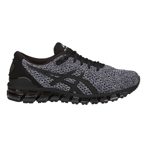 Mens ASICS GEL-Quantum 360 Knit Running Shoe - Black/White 10