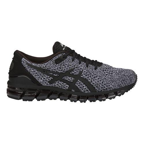 Mens ASICS GEL-Quantum 360 Knit Running Shoe - Black/White 8.5