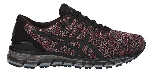 Mens ASICS GEL-Quantum 360 Knit Running Shoe - Black/Red/Grey 10.5