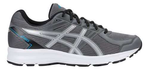 Mens ASICS Jolt Running Shoe - Carbon/Silver/Blue 10.5
