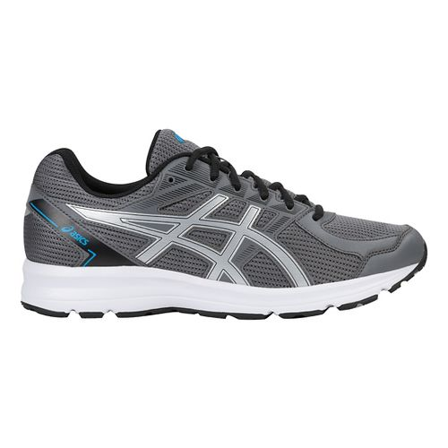 Mens ASICS Jolt Running Shoe - Carbon/Silver/Blue 10.5