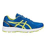 Mens ASICS Jolt Running Shoe - Blue/Lime/Black 9.5