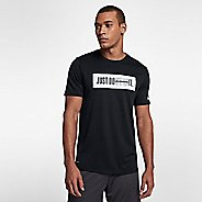 Mens Nike Dry Don't Quit Short Sleeve Technical Tops - Black M