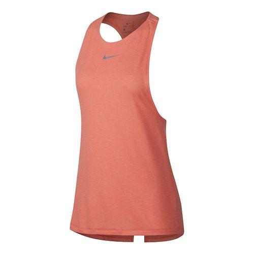 Womens Nike Dry Medalist Split Sleeveless & Tank Technical Tops - Crimson L