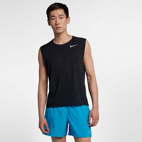 Mens Nike Breathe Rise 365 Sleeveless & Tank Technical Tops - Black L
