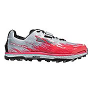 Womens Altra King MT 1.5 Trail Running Shoe - Grey/Pink 9