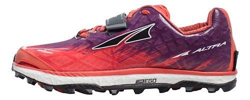 Womens Altra King MT 1.5 Trail Running Shoe - Grey/Pink 6