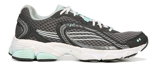 Womens Ryka Ultimate Running Shoe - Grey/Black/Mint 9.5