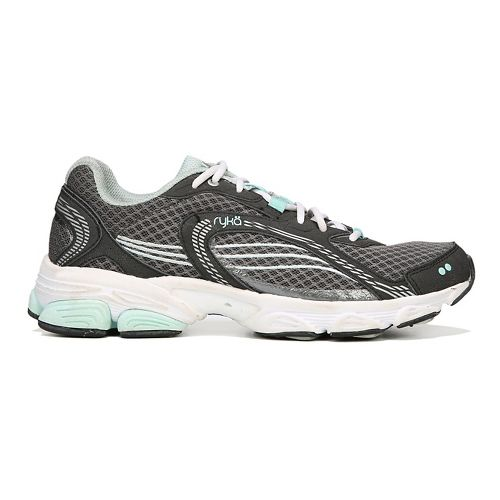 Womens Ryka Ultimate Running Shoe - Grey/Black/Mint 6.5