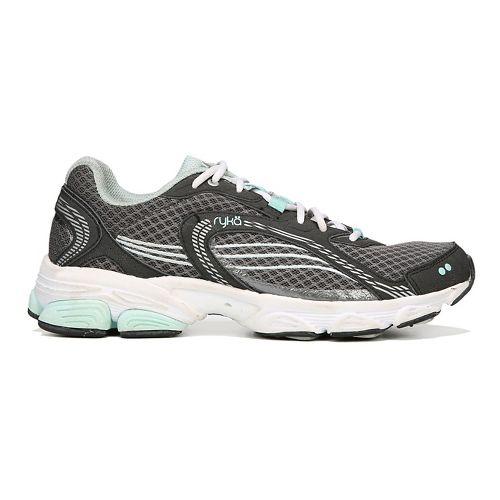 Womens Ryka Ultimate Running Shoe - Grey/Black/Mint 7.5