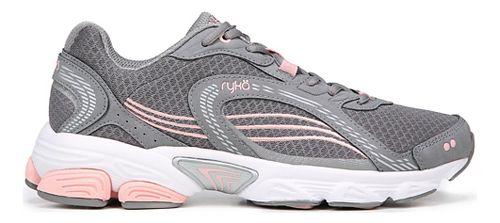Womens Ryka Ultimate Running Shoe - Grey/Rose/Silver 7.5