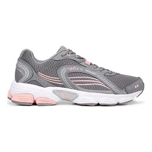 Womens Ryka Ultimate Running Shoe - Grey/Rose/Silver 7.5