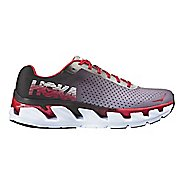 Mens Hoka One One Elevon Running Shoe - Black/Red 9.5