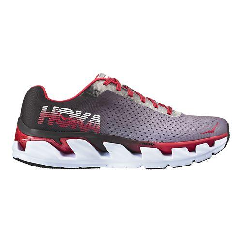 Mens Hoka One One Elevon Running Shoe - Black/Red 9.5