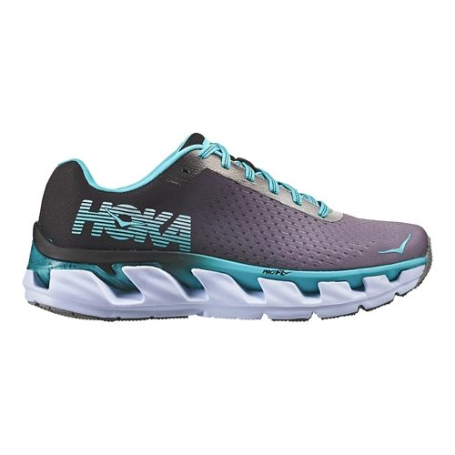 Womens Hoka One One Elevon Running Shoe - Black/Bluebird 10.5