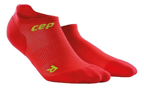 Mens CEP Dynamic+ Ultralight No-Show Socks Injury Recovery - Red/Green L