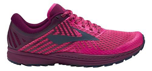 Womens Brooks Mazama 2 Trail Running Shoe - Pink/Plum/Navy 8.5