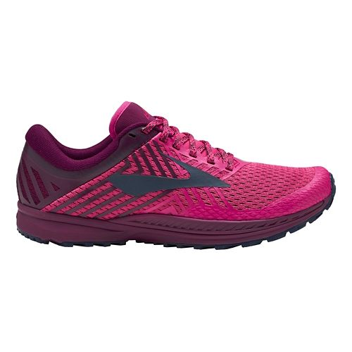 Womens Brooks Mazama 2 Trail Running Shoe - Pink/Plum/Navy 11