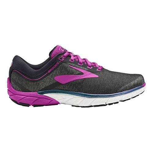 Womens Brooks PureCadence 7 Running Shoe - Black/Purple 6.5