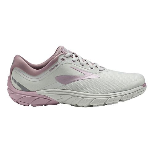 Womens Brooks PureCadence 7 Running Shoe - Grey/Rose/White 10.5