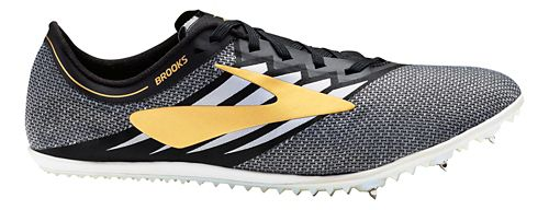 Brooks ELMN8 v4 Track and Field Shoe - Black/Gold/White 8.5