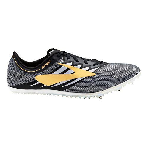 Brooks ELMN8 v4 Track and Field Shoe - Black/Gold/White 10.5