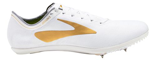 Brooks Wire v5 Track and Field Shoe - White/Gold 6.5