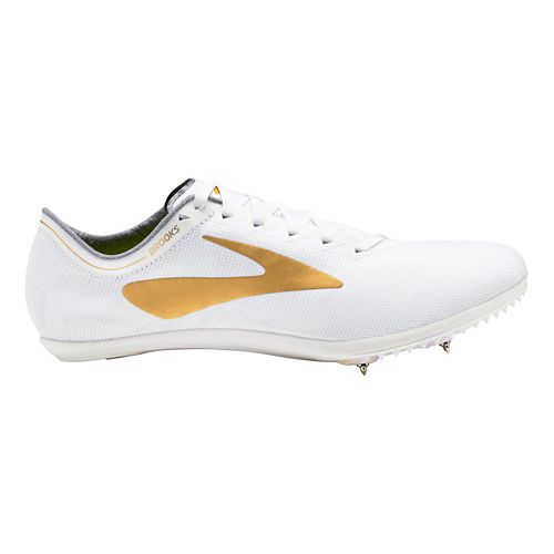 Brooks Wire v5 Track and Field Shoe - White/Gold 11