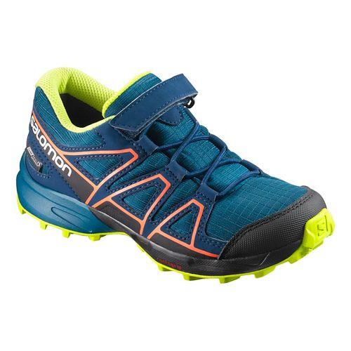 Kids Salomon Speedcross CSWP Trail Running Shoe - Blue/Poseidon/Ibis 10C
