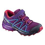 Kids Salomon Speedcross CSWP Trail Running Shoe - Grape/Blue 12C