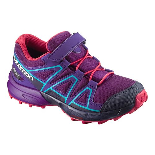 Kids Salomon Speedcross CSWP Trail Running Shoe - Grape/Blue 11C