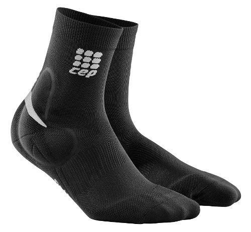 Mens CEP Ortho+ Ankle Support Short Socks Injury Recovery - Black M