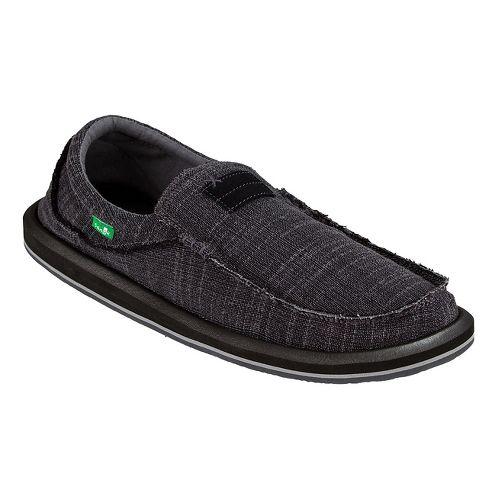 Mens Sanuk Chiba Linen Casual Shoe - Charcoal 9