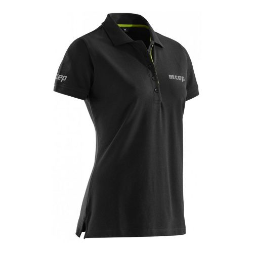 Womens CEP Brand Polo Short Sleeve Technical Tops - Black M
