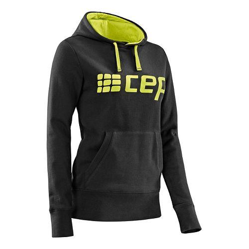 Womens CEP Hoodie Half-Zips & Hoodies Technical Tops - Black/Lime Green M