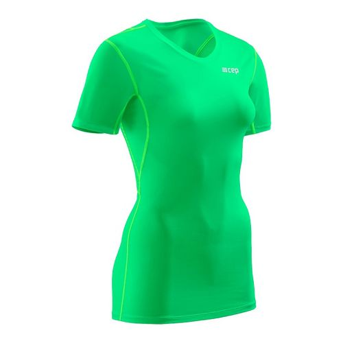 Womens CEP Wingtech Shirt Short Sleeve Technical Tops - Viper Green M