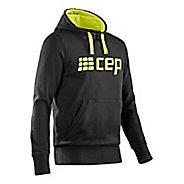 Mens CEP Hoodie Half-Zips & Hoodies Technical Tops - Black/Lime Green L