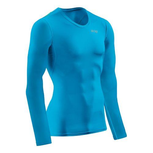 Mens CEP Wingtech Shirt Long Sleeve Technical Tops - Electric Blue/Green L