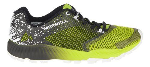 Mens Merrell All Out Crush 2 Trail Running Shoe - Black/Green 7