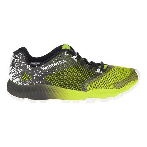 Mens Merrell All Out Crush 2 Trail Running Shoe - Black/Green 14