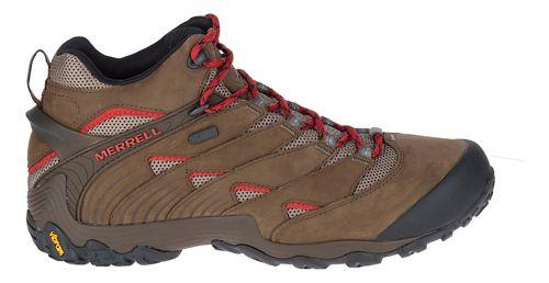 Mens Merrell Chameleon 7 Mid Waterproof Hiking Shoe - Red 10.5