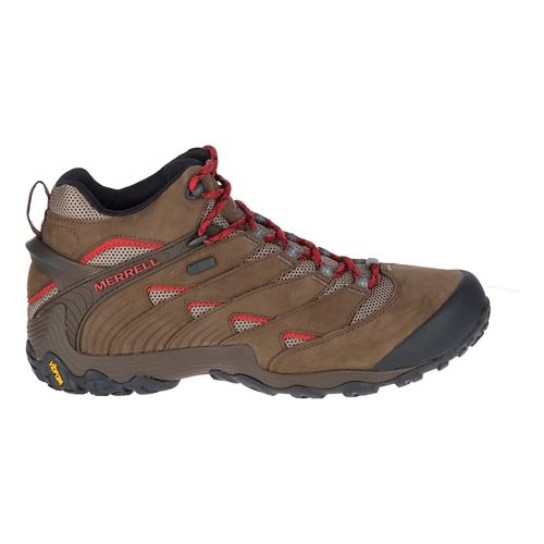 Mens Merrell Chameleon 7 Mid Waterproof Hiking Shoe - Brown 14