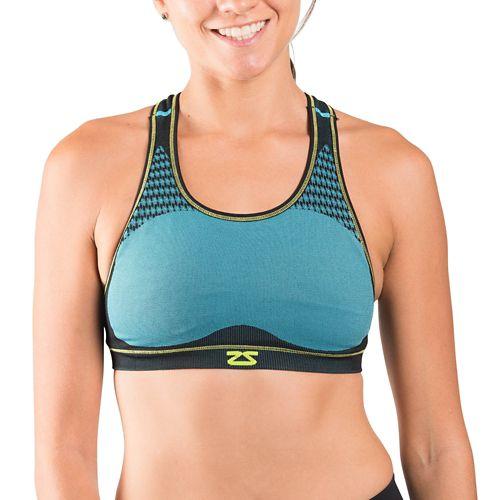 Womens Zensah POP Seamless Sports Bras - Aqua M/L