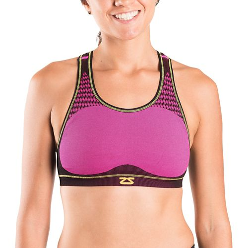Womens Zensah POP Seamless Sports Bras - Neon Pink L/XL