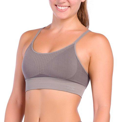 Womens Zensah Super Sports Bralette Sports Bras - Slate S