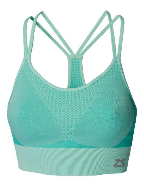 Womens Zensah Super Sports Bralette Sports Bras - Mint M