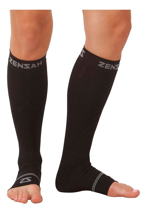 Zensah Ankle/Calf Compression Sleeves Injury Recovery - Black S