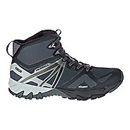 Mens Merrell MQM Flex Mid Waterproof Hiking Shoe - Black 10.5