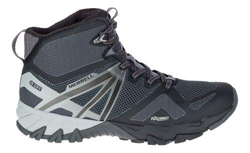Mens Merrell MQM Flex Mid Waterproof Hiking Shoe - Black 10.5